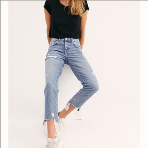 NWT Free People Good Time Relaxed Skinny Jeans